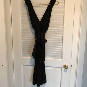 Cross back formal dress
